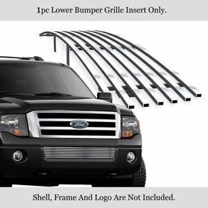 Fits 2007 2014 Ford Expedition Bumper Billet Grille Grill Insert
