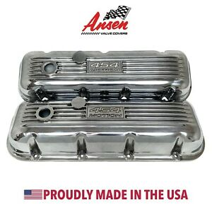 Big Block Chevy Classic 454 Motion Outline Valve Covers Polished Ansen Usa