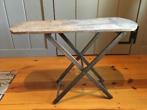 Child S Ironing Board Antique Folding Wood Solid Sturdy Primitive Old Wood Pegs