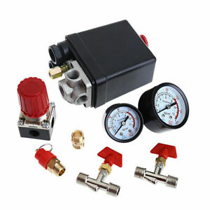 Air Compressor Pressure Switches Control Valve Manifold Regulator Gauges Replace