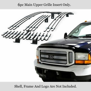 Fits 1999 2004 Ford F 250 00 04 Excursion Upper Stainless Chrome Billet Grille