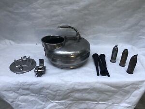 Vintage The Surge Milker Stainless Steel Cow Milking Can 10 Items Handle Weld