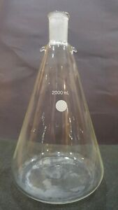 2000 Ml 2l 2 Liter Jointed Erlenmeyer Flask With Hooks 24 40 Joiont 636