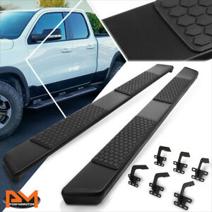 For 19 20 Ram 1500 Truck Crew Cab 6 Flat Side Step Nerf Bar Running Board Black