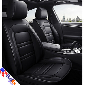 6d Pu Leather Car Seat Cover Set Full Surrounded Front Rear Pad For Bmw Us Stock