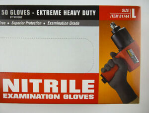 Nitrile Gloves 9 Mil Strong Extreme Heavy Duty Powder Free L New Boxed