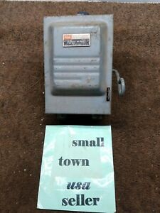 Vintage Federal Pacific 30amp 2 Poles Box Steam Punk Switch