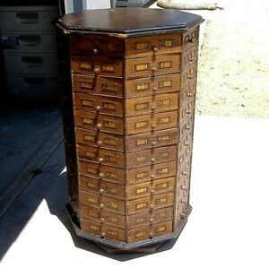 Antique American Bolt Screw 1900 S Octagonal Hardware Store Cabinet 96 Drawer