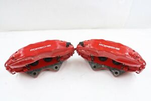 Porsche 911 993 Turbo 1994 1998 Oem Big Red 4 Piston Brembo Rear Calipers Set