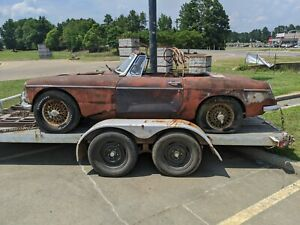 62 65 Mg Mgb Convertible Top Frame Bows Stow Away Type Oem