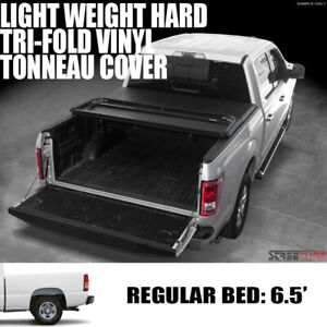 Tri Fold Hard Vinyl Tonneau Cover For 99 06 07 Chevy Silverado Truck 6 5 Ft Bed