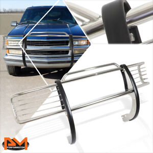 For 88 99 Chevy gmc C k Gmt400 Front Bumper Brush Grill Guard Protector Chrome