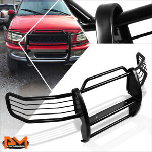 For 97 98 Ford F150 F250 Expedition 4wd Front Bumper Brush Grille Guard Black