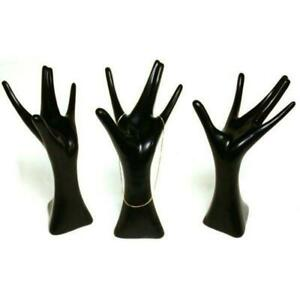 3 Black Polystyrene Hand Jewelry Display Stands 5 3 4 X 8