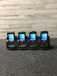 Lot Of 4 Motorola Mc55a0 Handheld Barcode Scanner Mc55a0 p90swqqa9wr W Base