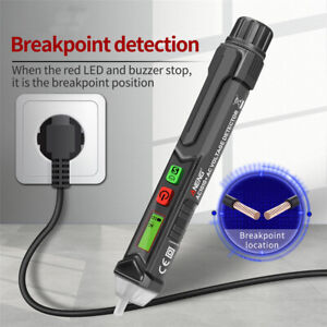12 1000v Ac Non contact Lcd Electric Test Pen Voltage Digital Tester Detector