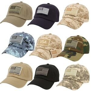 Camouflage Constructed Special Tactical Operator Forces USA Flag Patch Hat Cap $12.99
