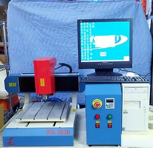 Redsail Rs 3636 Mini Cnc Router W Computer Monitor Keyboard Mouse