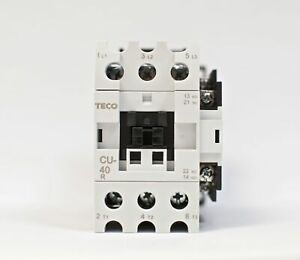 Teco Cu 40r Magnetic Contactor 60a 3 Phase 24v Coil 3a1a1b no And Nc