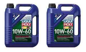 Liqui Moly 10w 60 Synthetic Gt1 Engine Motor Oil Bmw M3 M5 M6 Z3 10 Liters