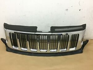 2011 2012 2013 Jeep Grand Cherokee Grille Grill Chrome Shell Oem Good