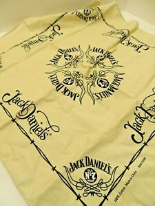 Jack-Daniels BANDANA/DO RAG BIKER MASK-Cream/Black