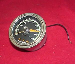 Vintage Sun Sst 90 Green Line Tach Tachometer Chevy Ford Gasser Hot Rat Rod