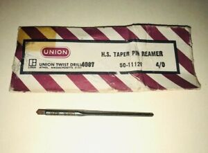 4 0 Hss Taper Pin Reamer 4 Flutes Straight Flute Union T d 4587 Made In Usa New
