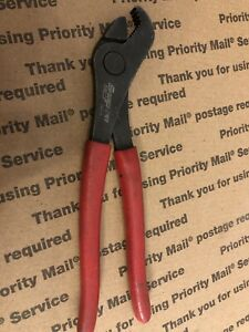 Snap On Battery Terminal Pliers 208ccp Soft Grip Red Handle 7 3 4 Long