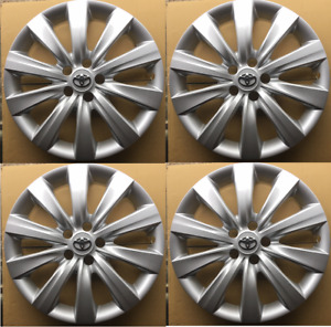 4x Hub Caps Fits 09 18 Toyota Corolla 16 Wheel Covers Full Set Of 4 Silver