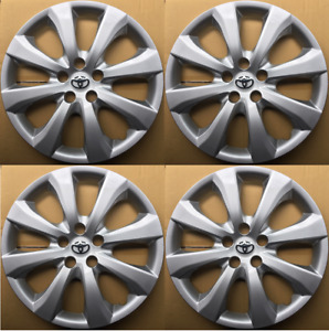 4 Hub Caps For 2009 2020 Toyota Corolla Matrix 16 Wheel Covers Silver Set Of 4