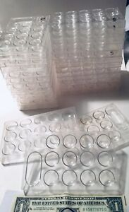 Lot 25 Chemistry Multi Trays Test Spot Plate Reaction Mixing 12 1 Wells Plastic