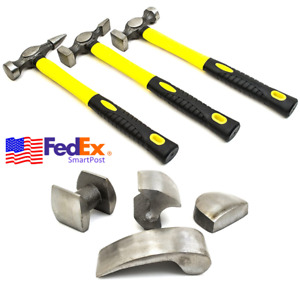 7x Heavy Duty Car Body Panel Striking Hammer Wedge Tool Dent Repair Remover Kit