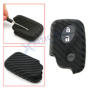 Carbon Fiber Style Soft Silicone Key Fob Cover For Lexus Is Es Gs Ls Ct Lx Gx Rx