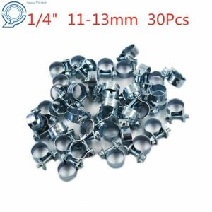 New 30 Pcs 1 4 Fuel Injection Gas Line Hose Clamps Clip Pipe Us
