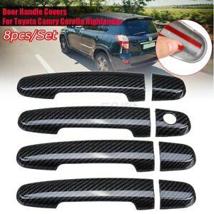 Carbon Fiber Look Door Handle Cover Trim For Toyota Corolla Scion Prius 06 2009