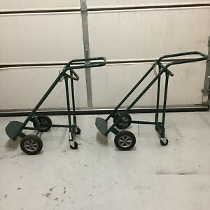 Welding Cylinder Hand Trucks carts Folding Converts From 4 Wheels To 2 Wheels