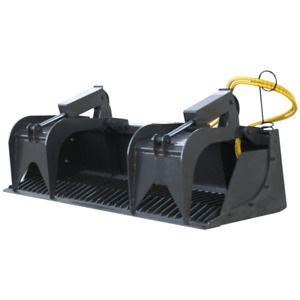 New 78 Heavy Duty Rock Grapple Bucket No Teeth Skid Steer Attachment Usa Made