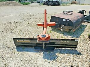 Land Pride 72 Rear Tractor Blade Cat 1 Kubota matched Lightly used Made In Usa
