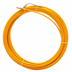98ft Fiberglass Fish Tape Conduit Measuring Electrical Wire Cable Reel Puller Us