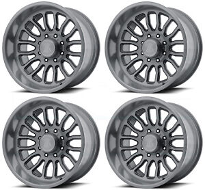20x12 Asanti Off road Ab815 Workhorse 8x6 5 8x165 1 40 Titanium Brushed Wheels