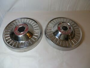Pair Of Vintage Packard Clipper Dog Dish Hubcaps 10