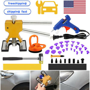 Us 47pcs Car Dent Puller Tools Paintless Hail Damage Dent Remover Repair Kit