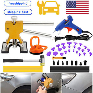 Us Car Paintless Dent Puller Tool Hail Damage Dent Remover Auto Repair 47pcs Kit