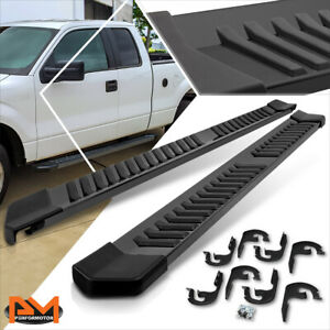 For 04 14 Ford F150 Super ext Cab 6 flat Side Step Nerf Bar Running Board Black