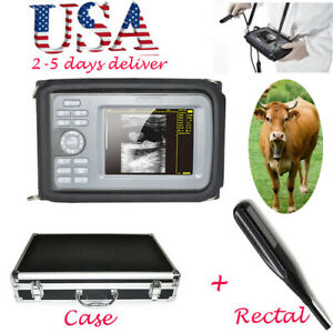 Vet Veterinary Ultrasound Scanner Machine Animal Rectal Transducer Case Warranty