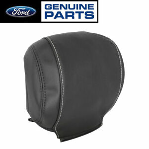 2012 2014 Mustang Genuine Ford Oem Black Leather Front Headrest Cover Upholstery