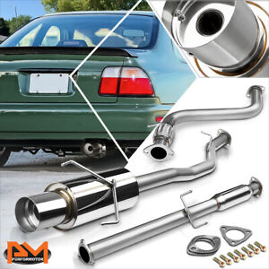For 94 97 Honda Accord 2 2l 4 5 Tip Muffler Stainless Steel Catback Exhaust Pipe