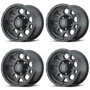 17x9 Xd Xd122 Enduro 5x5 5x127 6 Matte Black Wheels Rims Set 4