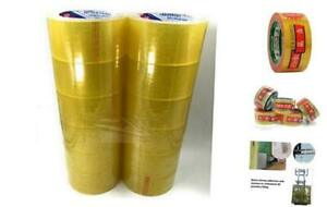 Heavy Duty Clear Packing Shipping Moving Tape Refills 2 Inch Wide 55 Yards